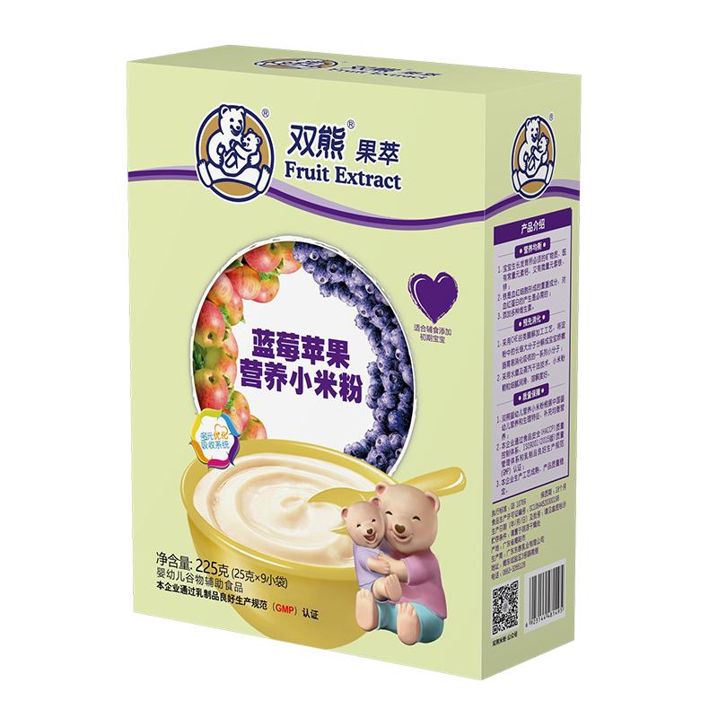 双熊果萃蓝莓苹果营养小米粉盒装225克