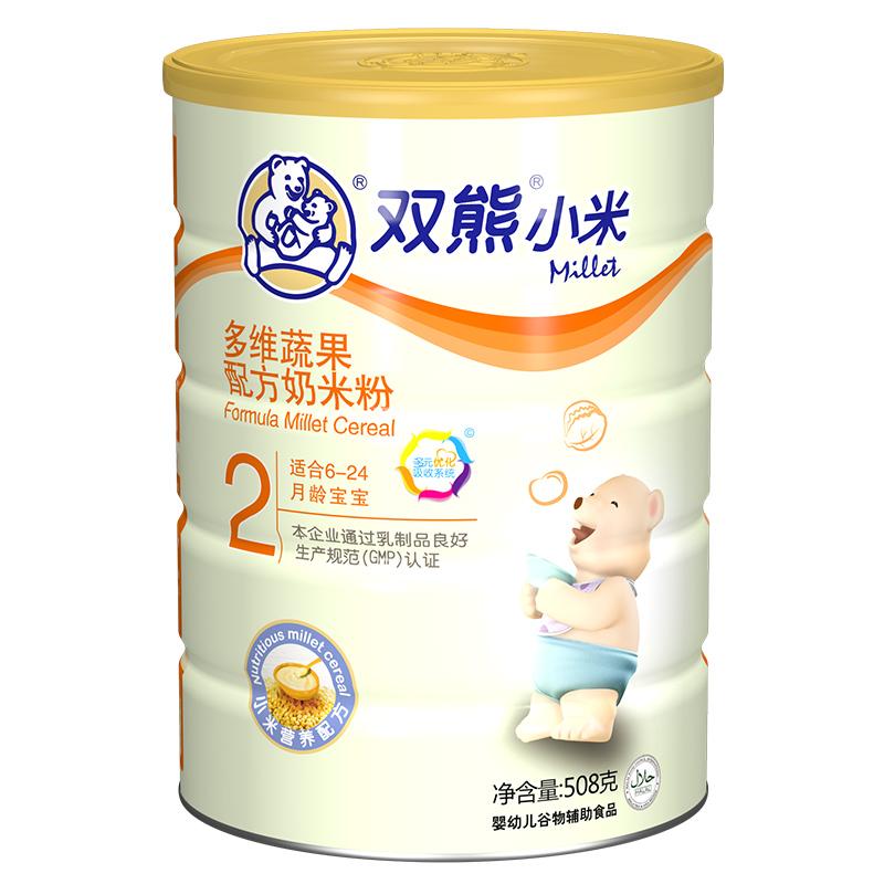双熊小米多维蔬果配方奶米粉